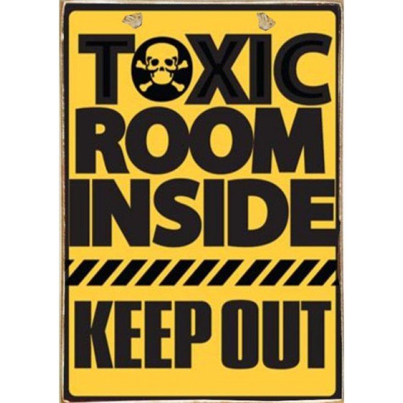 Toxic Room Ξύλινος Vintage Πίνακας 20 x 30 cm