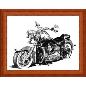 Vintage ασπρόμαυρος πίνακας xειροποίητος με ρετρό μοτο&