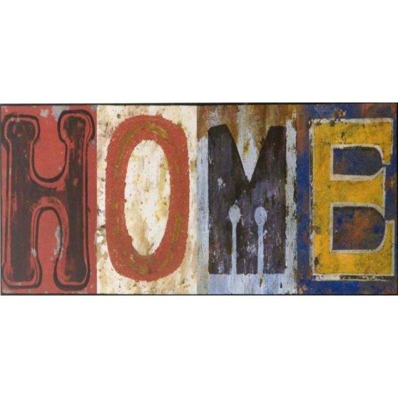 Vintage ξύλινος χειροποίητος πίνακας 'HOME'