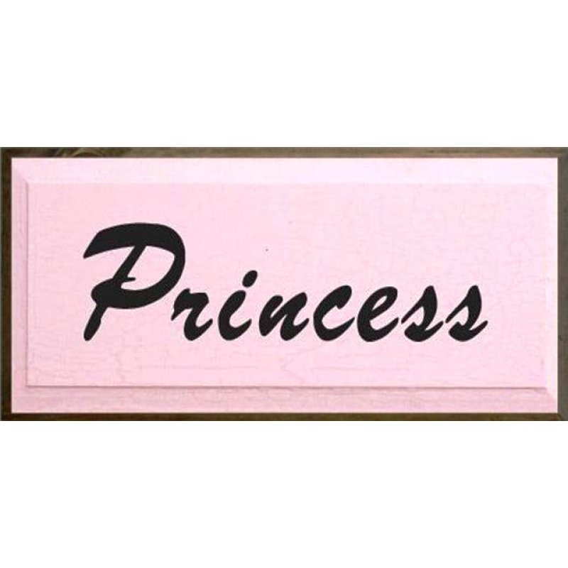 Vintage ξύλινος χειροποίητος πίνακας 'Princess'