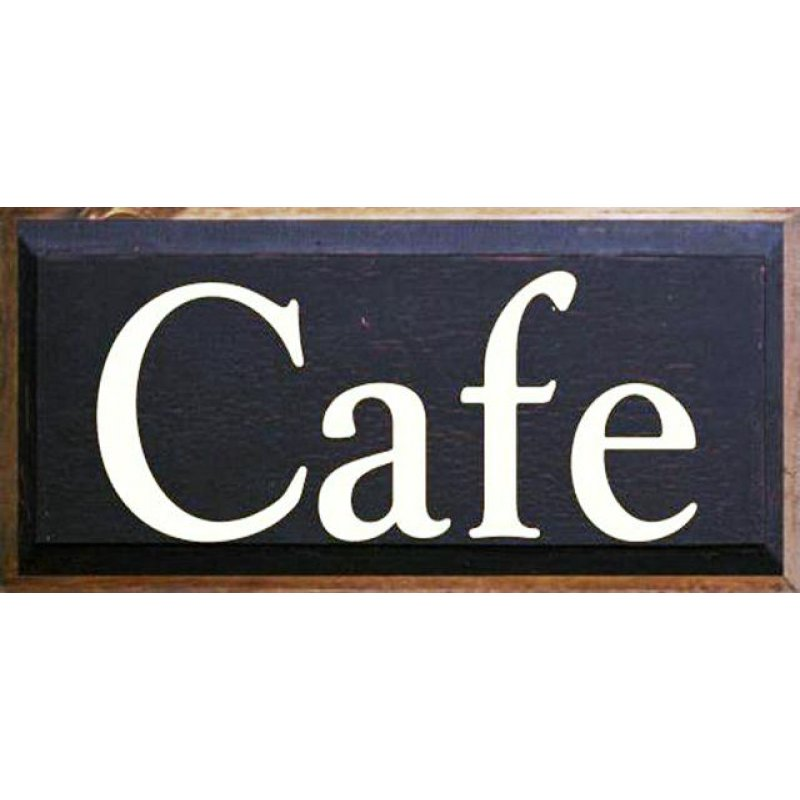 Vintage ξύλινος χειροποίητος πίνακας CAFÉ