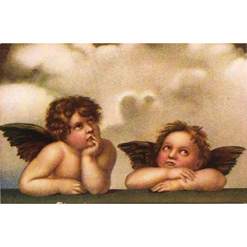 Vintage Πίνακας Χειροποίητος Αγγελάκια