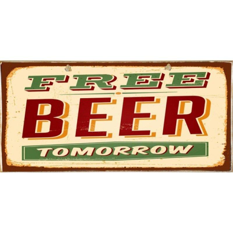 Vintage Πίνακας Χειροποίητος Beer 13 x 26 cm
