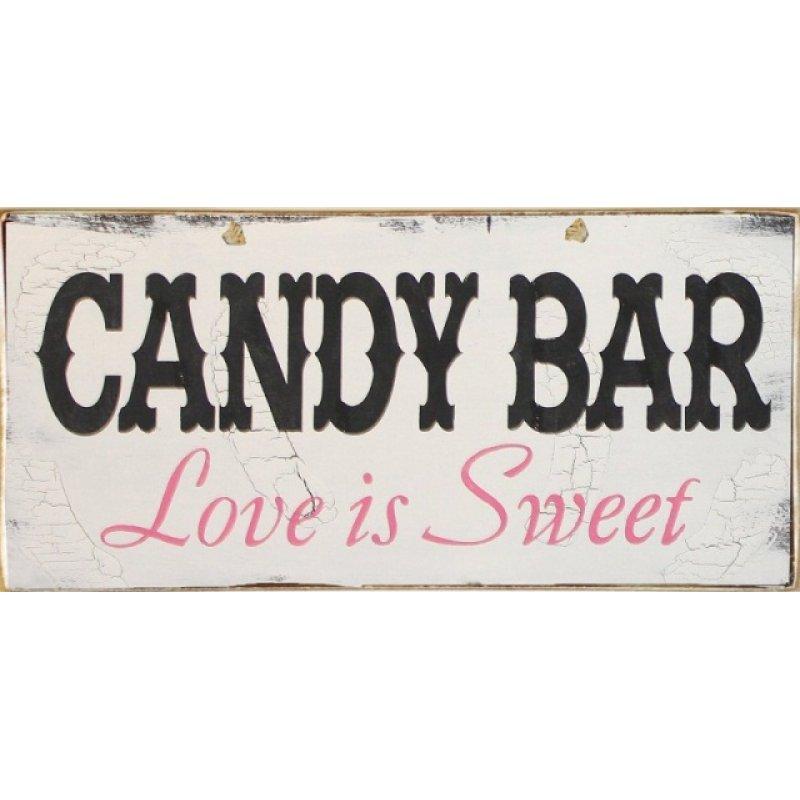 Vintage Πίνακας Χειροποίητος Candy Bar