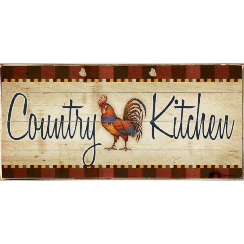 Vintage Πίνακας Χειροποίητος Country Kitchen 13 x 26 cm
