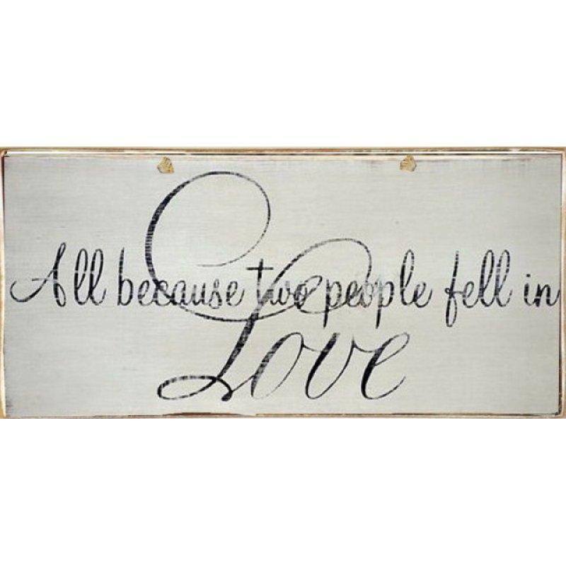Vintage Πίνακας Χειροποίητος Love 13 x 26 cm