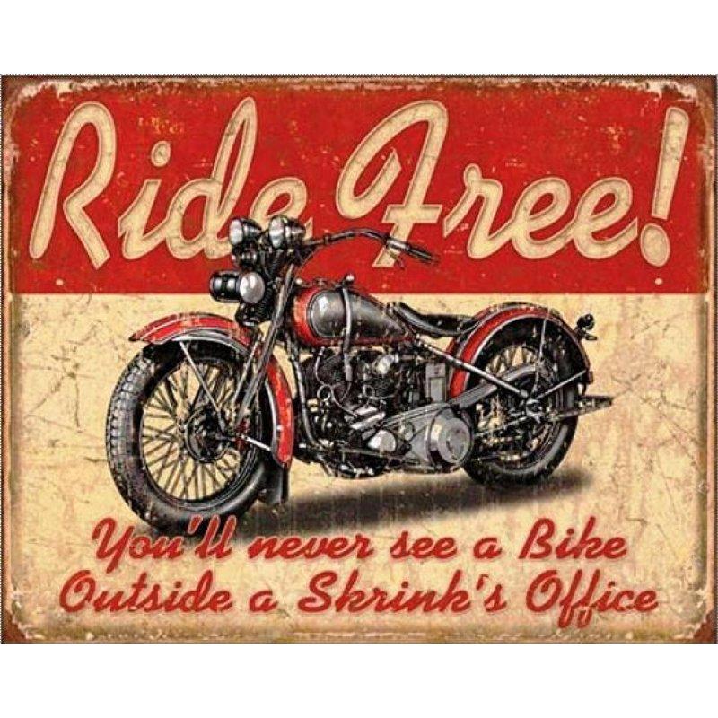 Vintage Πίνακας Χειροποίητος Ride Free