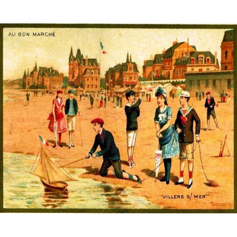 Vintage χειροποίητος πίνακας με ανθρώπους να παίζουν με καραβάκια