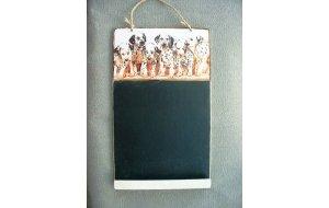 Σκυλάκια Δαλματίας - Χειροποίητος Μαυροπίνακα&sigm