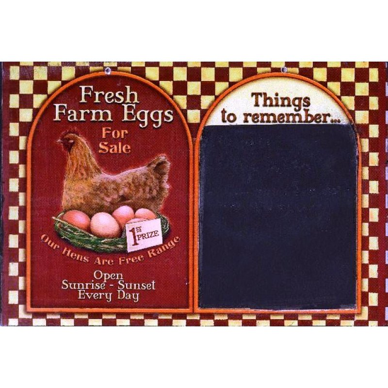 Χειροποίητος Μαυροπίνακας '' Φρέσκα αυγά '' 20X30 εκατοστά
