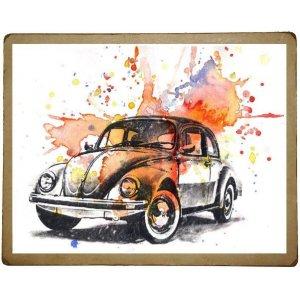 Χειροποίητος πίνακας με vintage πολύχρωμη απεικόνιση σ&kapp