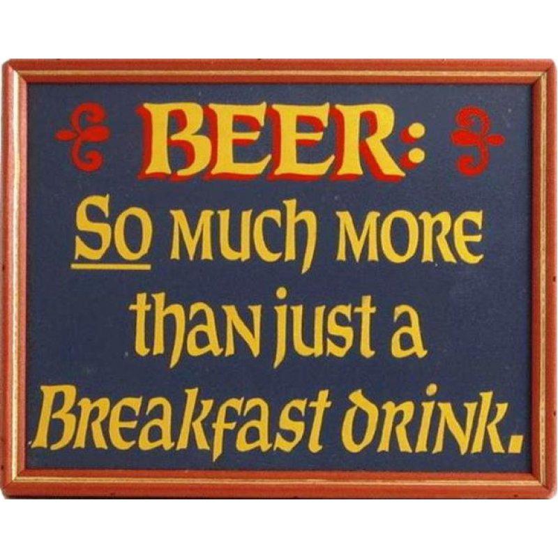 Χιουμοριστικός Πίνακας Χειροποίητος Ρετρό 'Beer'