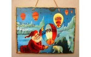 Xειροποίητο Χριστουγεννιάτικο ταμπελάκι  Xmas Greetings