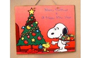 Xειροποίητο Χριστουγεννιάτικο ταμπελάκι  Cartoon με Δ&eps