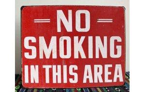 No Smoking Vintage Ξύλινο Πινακάκι 20 x 25 cm