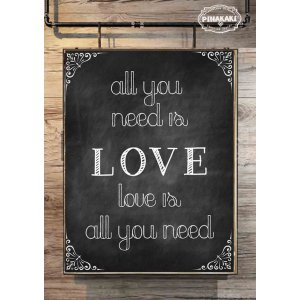 All You Need Is love Vintage Ξύλινο Πινακάκι 20 x 30 cm 1904