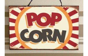 Pop Corn Vintage Ξύλινος Πίνακας 20 x 30 cm 1929