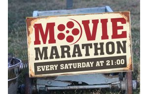 Movie Marathon Vintage Ξύλινος Πίνακας 20 x 30 cm 1930