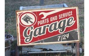 Garage Vintage Ξύλινος Πίνακας 20 x 30 cm 1940
