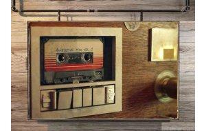 80's Cassette Retro Ξύλινος Πίνακας 20x30 cm