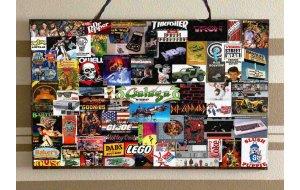 80's Ads Ξύλινος Χειροποίητος Πίνακας 20x30 cm