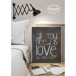 All You Need Is Love…. Vintage Ξύλινο Πινακάκι 20 x 30 cm 1902