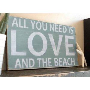 All you need is Love.. Vintage Ξύλινος Χειροποίητος Πίνακας 20 x 30cm