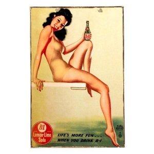 B1 Lemon Lime Soda Vintage Ξύλινο πινακάκι 21 x 30 cm