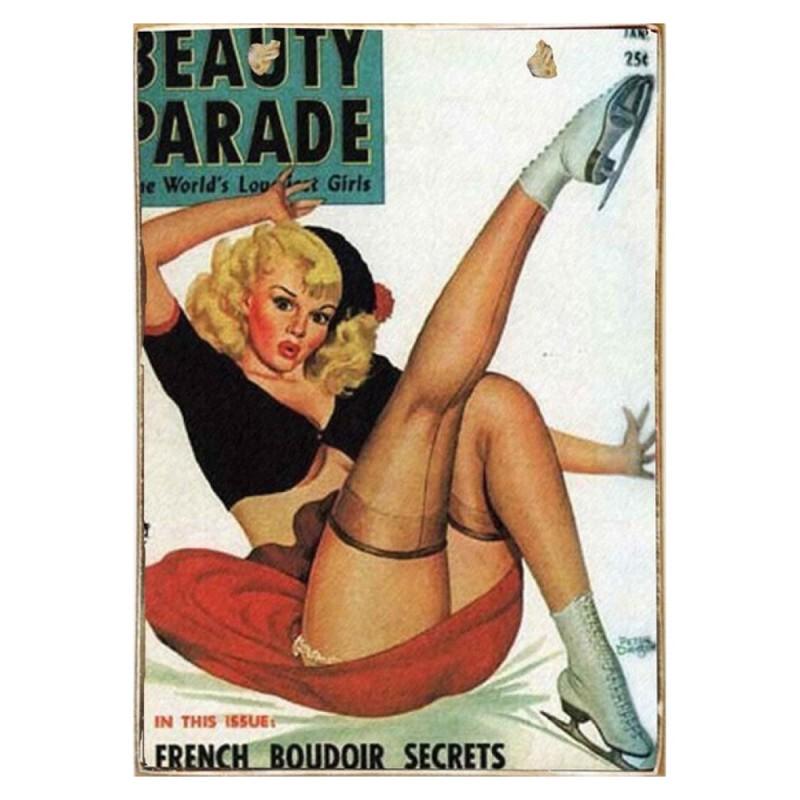 Beauty Parade -Vintage Ξύλινος  Πίνακας 20 x 30 cm
