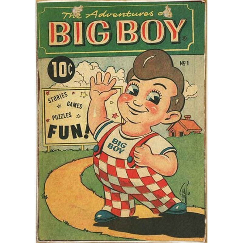 Big Boy -Vintage Ξύλινος  Πίνακας 20 x 30 cm
