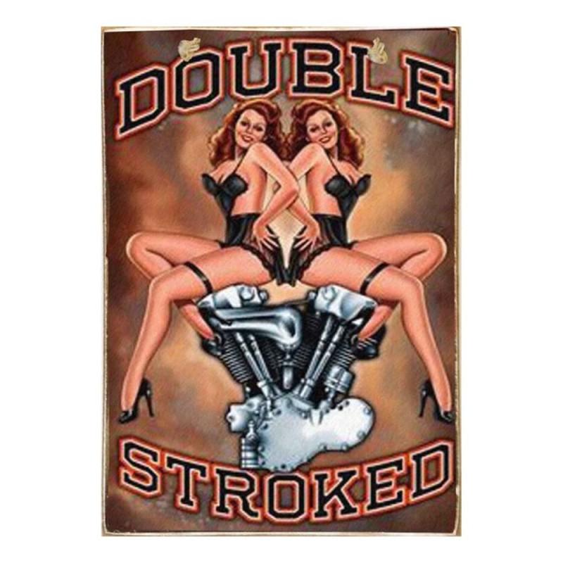 Double Stroked -Vintage Ξύλινος  Πίνακας 20 x 30 cm