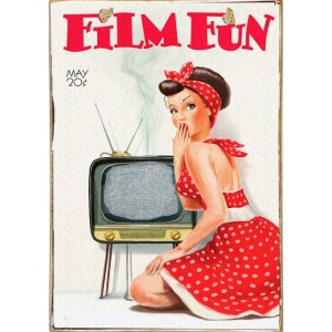 Film Fun -Vintage Ξύλινος  Πίνακας 20 x 30 cm