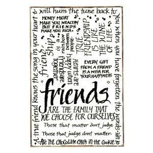 Friends Vintage Ξύλινο Πινακάκι 21 x 30 cm