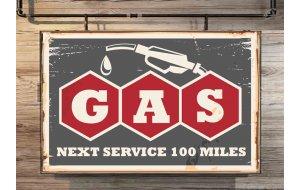 Gas Vintage Ξύλινος Πίνακας 20 x 30 cm 1941