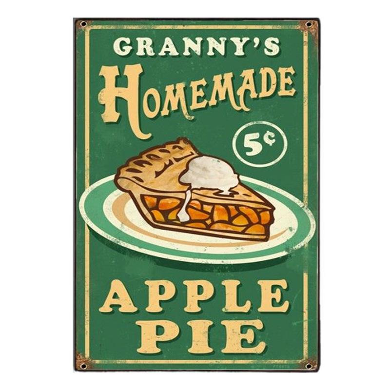Homemade Apple Pie  Vintage Ξύλινο Πινακάκι 20 x 30 cm