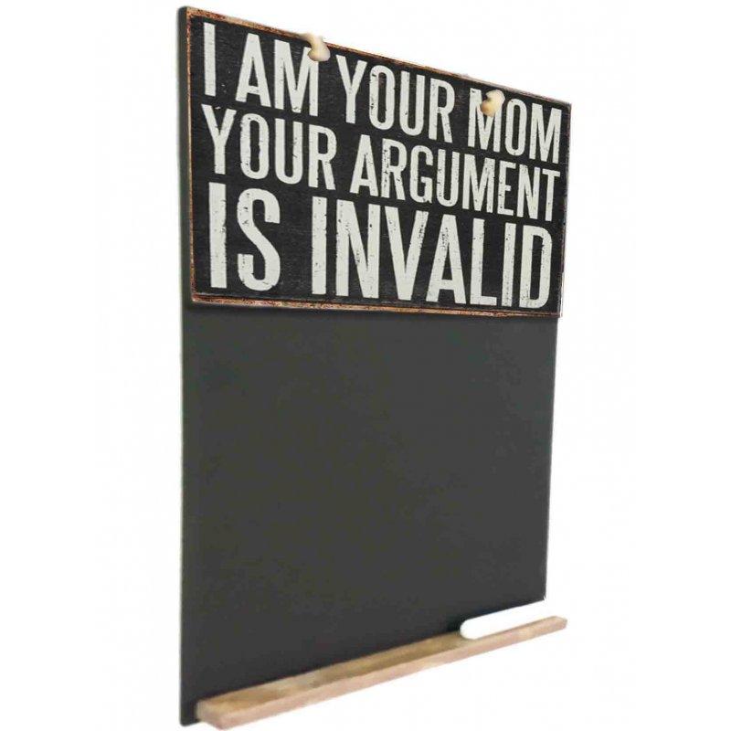 I am your Mom  Ξύλινος Χειροποίητος Μαυροπίνακας 38 x 26 cm