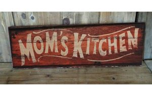 Mom's Kitchen Vintage Ξύλινος Πίνακας 13 x 26 cm 1919