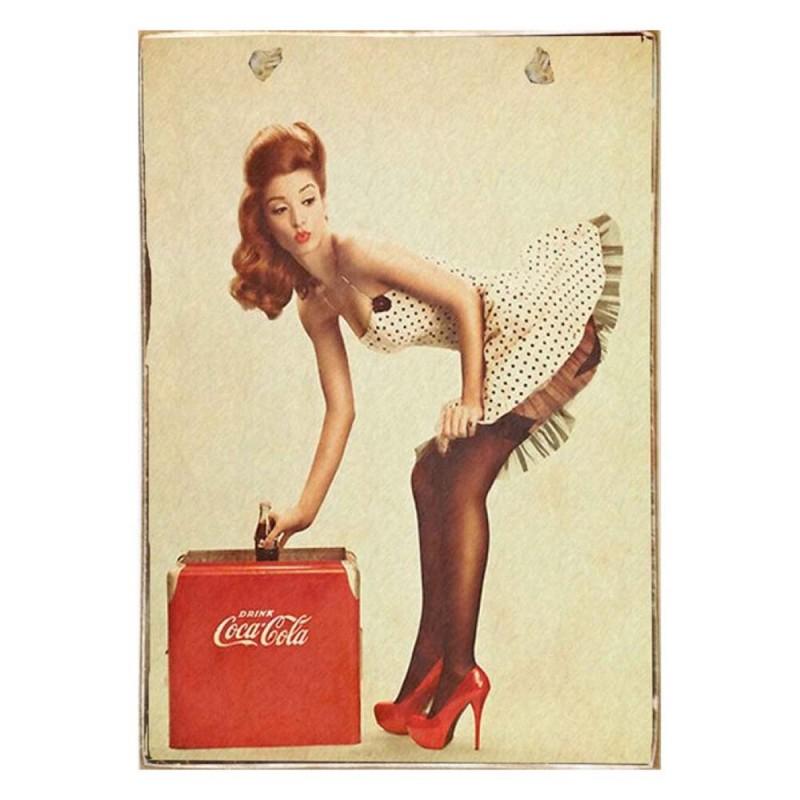 Pinup Cola -Vintage Ξύλινος  Πίνακας 20 x 30 cm