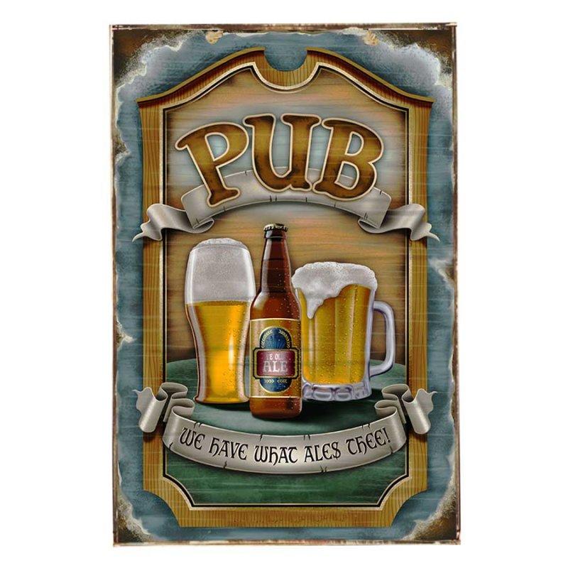 Pub Vintage Ξύλινο Πινακάκι 21 x 30 cm