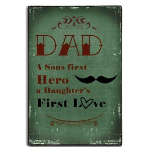 Dad first love vintage πινακάκι 20x30 εκ