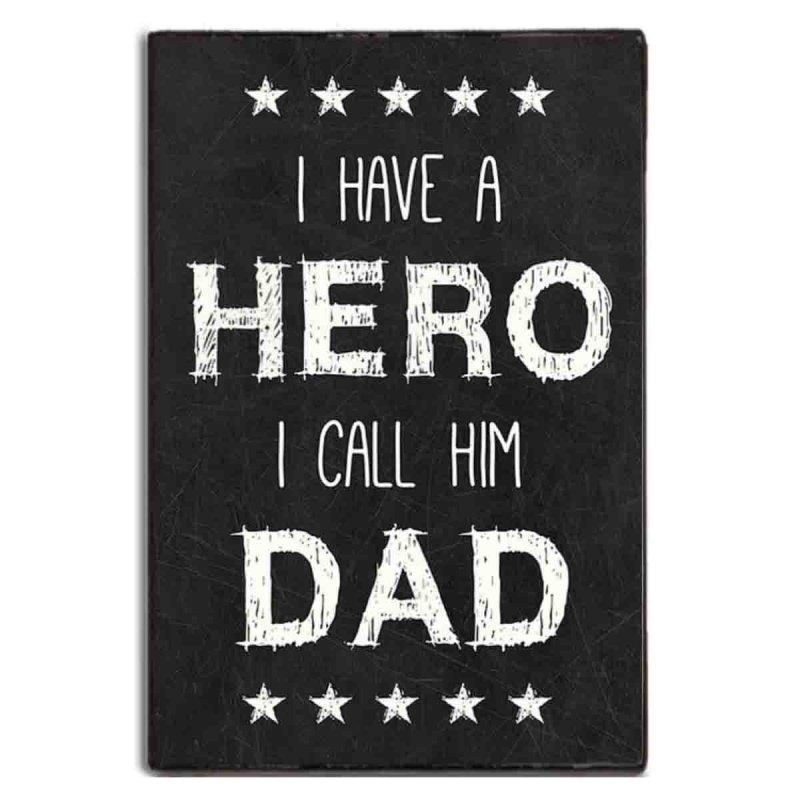 I have a hero χειροποίητο πινακάκι από ξύλο