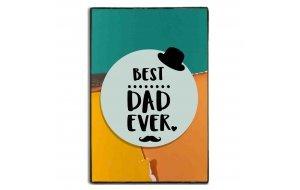 Best Dad Ever ξύλινος χειροποίητος πίνακας 20x30 εκ