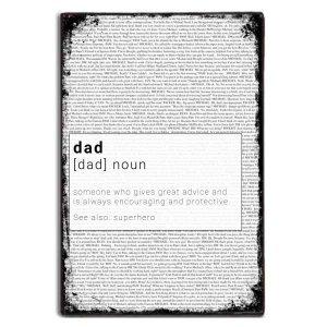 Dad meaning χειροποίητο ξύλινο πινακάκι