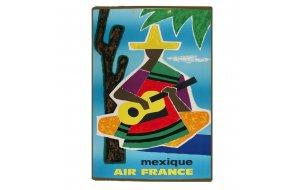 Retro Ξύλινο πινακάκι με διαφήμιση ταξιδίου για το Mexico