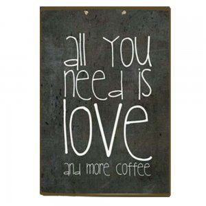 Retro πινακάκι ξύλινο All you need is Love