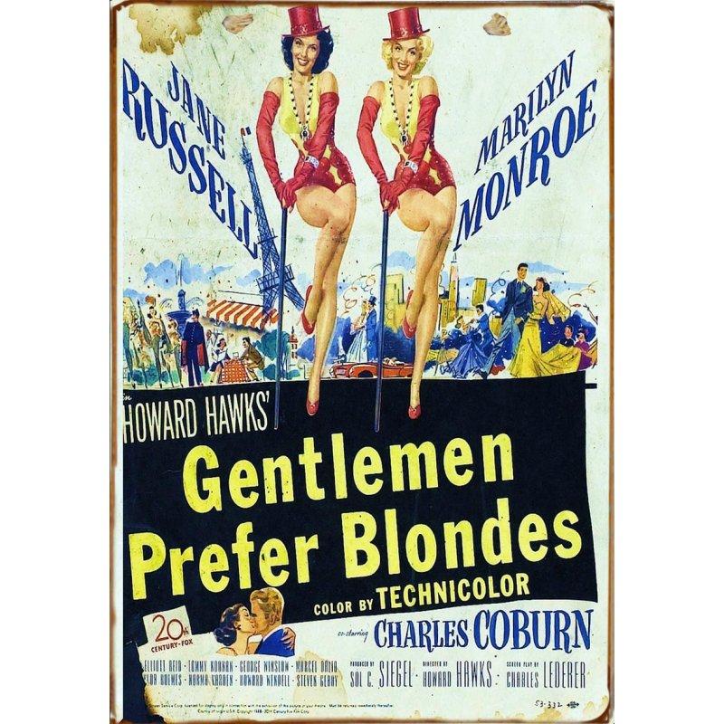 Ξύλινο πινακάκι με παλιά διαφήμιση γνωστής ταινίας του Hollywood