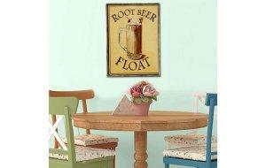Retro ξύλινο πινακάκι με διαφήμιση ποτού με μπύρα