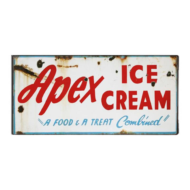 Vintage Πινακάκι με διαφήμιση για Παγωτά