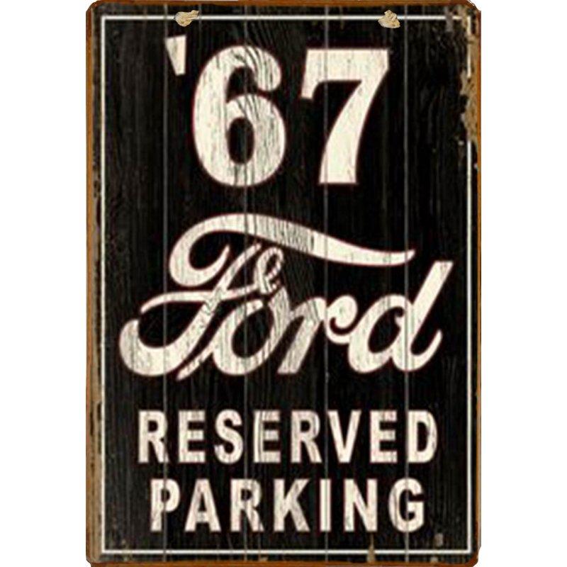 Ρετρό ξύλινο πινακάκι Parking μόνο για Ford το ΄67