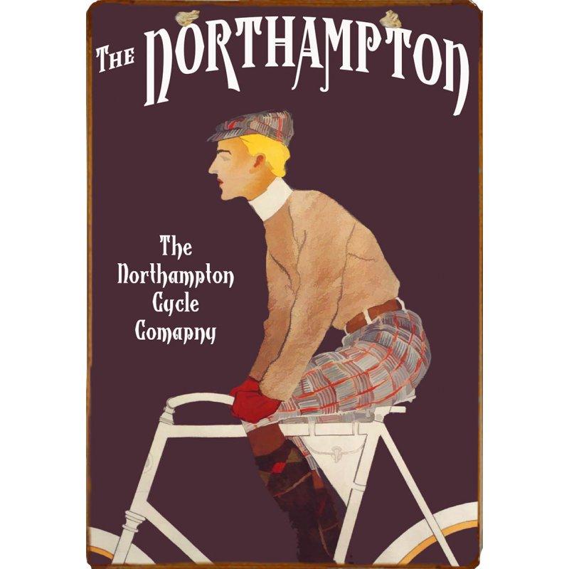 Ξύλινο πινακάκι με παλιά διαφήμιση εταιρείας ποδηλάτων